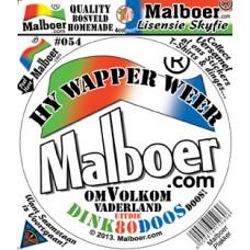 """Malboer© """"Hy Wapper Weer"""" Sticker"""