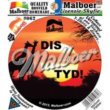 Dis Malboer© Tyd Sticker 62
