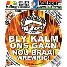 "Malboer© ""Bly Kalm"" Sticker 68"