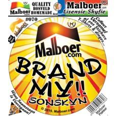 """Malboer© """"Brand My Sonskyn"""" Sticker 70"""