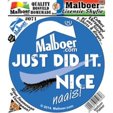 "Malboer© ""Just did it"" Sticker 71"