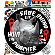 "Malboer© ""Save the Rhino"" Sticker 72"