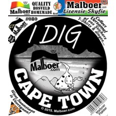 "Malboer© ""I dig CT"" Sticker 80"
