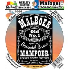 Malboer© Old No.1 Mampoer Sticker