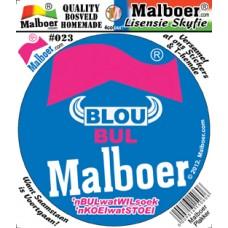 Malboer© Blou Bul Sticker
