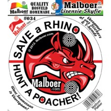 Malboer© Save the Rhino Original - Sticker 034