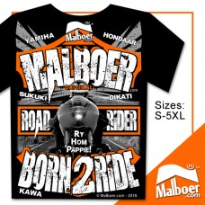 Malboer© Road Rider Born2Ride Black Tshirt
